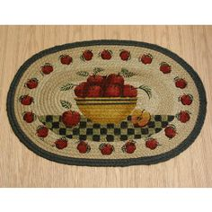 Apple rug for kitchen (my kitchen is apple themed)