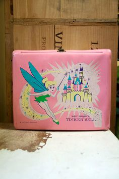 Vintage 1968 Vinyl Walt Disneys Tinker Bell Lunchbox & Thermos #vintage #lunchbox