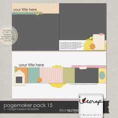 Pagemaker Pack 15 :: Templates :: Memory Scraps