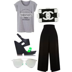 Free time? by vasy92 on Polyvore featuring polyvore, moda, style, Proenza Schouler, Fiebiger, Chanel and Christian Dior