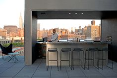 The 10 BEST Rooftops In NYC #refinery29  http://www.refinery29.com/71229#slide6  La Piscine at Hôtel Americano With a panoramic view of Manhattan and the incredible food and drink, there really isn't a reason not to go. La Piscine, 518 West 27th Street (between Tenth and Eleventh avenues); 212-525-0000.