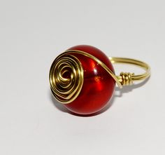 Rich+red+spiral+ring+by+bitsbeads+on+Etsy,+£4.00
