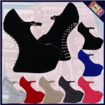 C1A Womens Ladies Sexy Night Out Heel-Less Gaga Walk High Wedges Platforms Shoes
