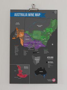 Australia Wine Region Map