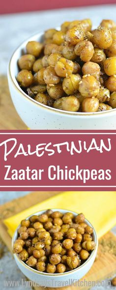 Palestinian Roasted Chickpeas with Za'atar Learn how to make this Middle Eastern Snack, Roasted Chickpeas from Palestine. This Palestinian recipe uses Middle Eastern zaatar as a spice. Zatar Recipes, Nut Recipes, Potluck Recipes, Dinner Recipes, Palestine Food, Drink Recipe Book, Cooking Recipes, Healthy Recipes, Healthy Snacks