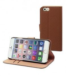 Etui Wallet Folio IPhone 6 Marron Pratique Avec Son Porte Carte De Crdit Ou Visite Et La Possibilit Lire Le Format Paysage
