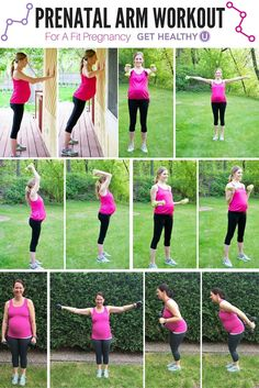 This prenatal workout is a safe, effective way to strengthen your upper body and stay fit while pregnant!