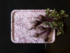 Autumn beetroots on 'Dash & Splash' marbled serving tray by Studio Formata. Available for worldwide shipping.