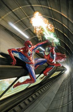 #Amazing #Spiderman #Fan #Art. (ÅMAZING SPIDER-MAN #10 Cover) By: Alex Ross. ÅWESOMENESS!!!™ ÅÅÅ+