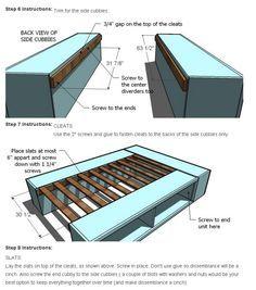 Adding slats @ascha1 Diy Storage Bed, Bed Frame With Storage, Diy Bed Frame, Extra Storage, Bedroom Storage, Storage Design, Bed Frame Plans, Bed Plans, Bed Frame Design