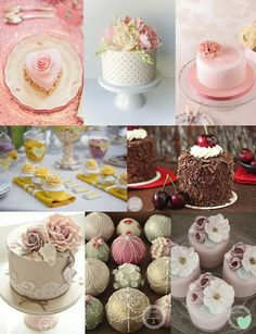 Eight Fabulous Wedding Mini Cakes Mood Board from The #Wedding Community  #weddingideas #weddingcakes #minicakes