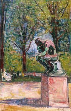 Edvard Munch Rodin's Thinker