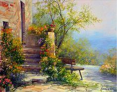 ART~ The Wooden Bench~ Antonietta Varallo