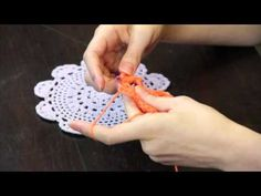 ▶ How to Crochet Doilies : Crochet Tips & Techniques - YouTube