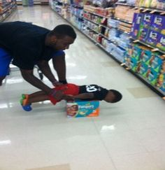 BAHAHA this is also too funny.  Donte Greene with his son, Donte, Jr.