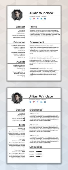 Durham 50 discount (Code Churchill) CV Design CV Template - microsoft template for resume