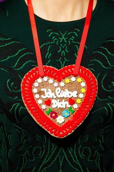 Tatty Devine - Wooden Gingerbread Heart