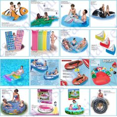 Inflatable Paddling Pools Lounger Beach Fun Swimming Lilo Air Bed Mat Play Raft