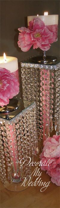 DECORATE MY WEDDING Vintage Crystal Centerpiece