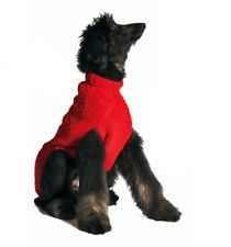 Chilly Dog Red Cable Dog Sweater, Large | http://www.cbuystore.com/page/viewProduct/10034733 | United States