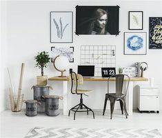 Zestaw 3 pojemników Urban Loft czarne   Udekoruj Dom Urban Loft, Office Desk, Gallery Wall, Furniture, Home Decor, Desk Office, Decoration Home, Desk, Room Decor