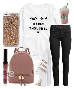 """Happy thoughts "" by jadenriley21 on Polyvore featuring H&M, adidas Originals, Case-Mate and Nila Anthony"