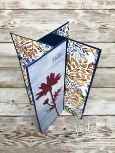 Fancy Fold Cards, Folded Cards, Box Cards Tutorial, Interactive Cards, Stampin Up Catalog, Card Making Tutorials, Pop Up Cards, Pinwheels, Card Templates