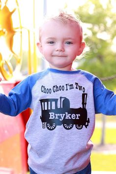 Choo choo train birthday shirt 3