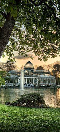 Palacio de cristal en El Retiro, Madrid