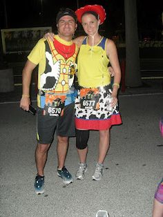 Woodie and Jessie Run Disney Outfits. Dressing up for races! Run Disney Costumes, Running Costumes, Running Outfits, Disney Outfits, Running Shoes, Disney Halloween Parties, Halloween Party Costumes, Carnival Costumes, Happy Halloween