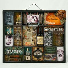 Artfully Distressed by Lytlescrapper (scrapbook.com) using 7 Gypsies - Letterblock Printer Tray
