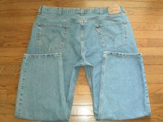 BIG MENS 46x30 LEVI'S 550 blue DENIM JEANS pants RELAXED FIT #Levis #Relaxed