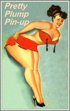 If only my waist was that thin, hah! Chubby pin-up girl.