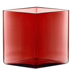 Iittala Ruutu Vase - Each Ruutu vase is unique - mouth-blown into a steel mould and polished by hand. Designer engraving on the bottom of the vase. Canning, Glass, Design, Decor, Decoration, Drinkware, Corning Glass, Decorating