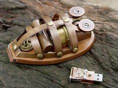 steampunk wireless mouse
