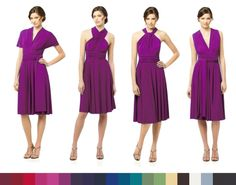purple twist wrap dress