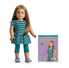 American Girl Dolls are very popular among young girls. American Girl dolls come in different ethnicities and the Historic dolls teach girls about history and valuable life lessons. American Girl Mckenna, All American Girl Dolls, American Girl Doll Costumes, American Girl Store, The Americans, Journey Girls, New Dolls, Girls In Leggings, Baby Costumes