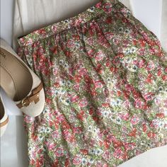 Beautiful Cremieux skirt New with tags. Lined skirt with delicate flower print. Elastic back of waist for comfort. I bought this from posh and sadly it was not my size! It will look pretty with the other items listed from my shop. Listing for skirt only Skirts