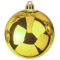Europalms Deko 83501271 Dekokugel 20 cm, gold Dekokugel für Innen- und Außendekoration ¨ Als Garten- und Weihnachtsdeko geeignet