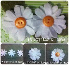Come fare #margherite in #pannolenci #tutorial #cartamodello #freepattern #pattern #felt #flowers