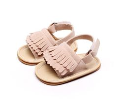 2016 new summer PU Leather hard rubber sole Baby moccasins Girls solid Baby…