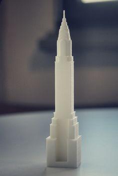 3D printed chrysler building