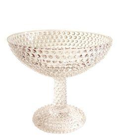 pedestal bowl hobnail glass vintage