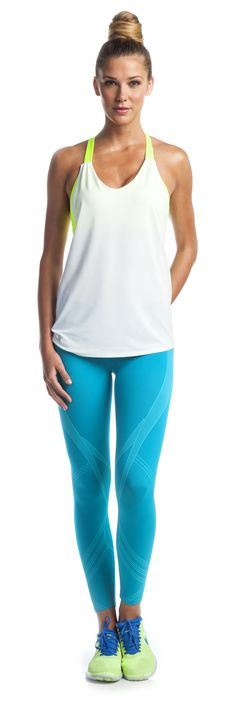 Electric Love Capri by Ellie: These leggings fit like a glove and look superfunky. #Ellie #idealshape
