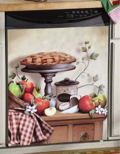 Country Apple Pie Kitchen Dishwasher Magnet Cover Accent Decor picclick.com