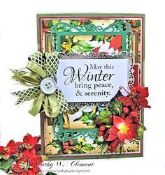 I'm hopping with Really Reasonable Ribbon and Gracielle Design as I share this elegant Winter Wishes Christmas card with you. Hop, comment and WIN!