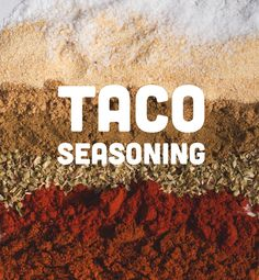 Taco Seasoning: I love tacos, but hate the crazy sodium content in seasonings. Make a big batch to have on hand! Mexican Food Recipes, Real Food Recipes, Great Recipes, Yummy Food, Favorite Recipes, Fast Recipes, Homemade Taco Seasoning, Seasoning Mixes, Seasoning Recipe