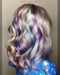 Galaxy hair #fantasycolors #galaxy