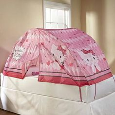 My girls would love this... twin bed tent