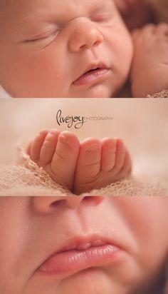 NATURALIDAD SUAVIDAD TERNURA Newborn Girl Photography macro | Oregon | LiveJoy Photography